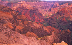 Waimea Canyon Kauai. A view of the colorful waimea canyon on the hawaiian island of kauai Royalty Free Stock Images