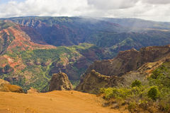 Waimea Canyon Kauai Hawaii. Scenic view of Waimea Canyon on Kauai Island Hawaii Stock Photo