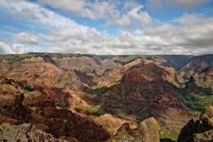 Waimea Canyon - Kauai, Hawaii. View into the Waimea Canyon on Kauai, Hawaii (the \Grand Canyon of the Pacific Stock Image