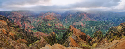Waimea Canyon in Kauai, Hawaii Islands. Amazing  panorama of Waimea Canyon in Kauai, Hawaii Islands Royalty Free Stock Images