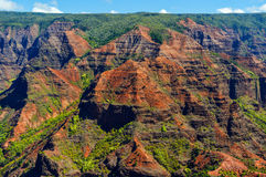 Waimea Canyon in Kauai, Hawaii Islands. Viewed Close up Stock Photos