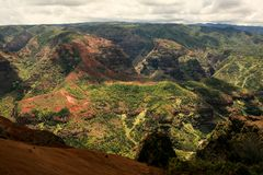 Waimea Canyon, Kauai, Hawaii. This is a picture of the majestic Waimea Canyon, Kauai, Hawaii. Also known as the Grand Canyon of the Pacific Royalty Free Stock Images