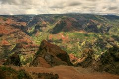 Waimea Canyon, Kauai, Hawaii. This is a picture of the majestic Waimea Canyon, Kauai, Hawaii. Also known as the Grand Canyon of the Pacific Stock Image