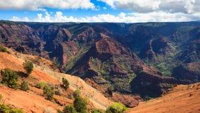Waimea Canyon Panorama. Panoramic view of beautiful Waimea Canyon in Kauai, Hawaii Islands Royalty Free Stock Photos