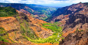 Waimea Canyon Panorama, Kauai Royalty Free Stock Image