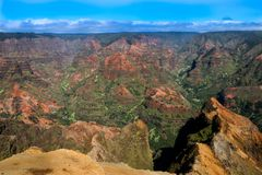 Waimea Canyon State Park - Kauai Hawaii royalty free stock image