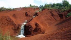 Waimea Canyon stream waterfall Kauai Stock Photo
