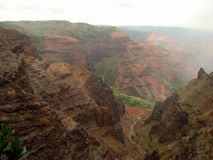 Waimea Canyon and Waipoo Falls view, Hawaii Stock Photos