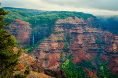 Waimea Canyon Waterfall Royalty Free Stock Photos