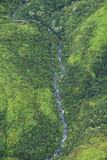 Waimea Canyon Waterfall, Kauai Royalty Free Stock Photo