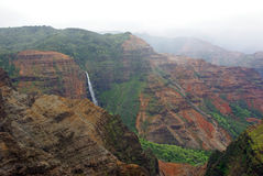 Waimea Canyon Waterfall - Kauai, Hawaii Royalty Free Stock Photography