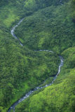 Waimea Canyon Waterfall river, Kauai Royalty Free Stock Image