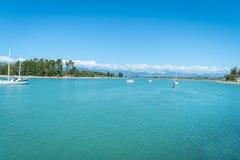 Waimea Estuary at Mapua on Tasman Bay stock images