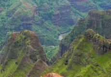 Waimea kanjon av Kauai, Hawaii Arkivbild