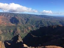 Waimea kanjon på den Kauai ön, Hawaii Fotografering för Bildbyråer