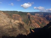 Waimea kanjon på den Kauai ön, Hawaii Arkivbilder