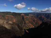 Waimea kanjon på den Kauai ön, Hawaii Royaltyfria Foton