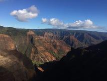 Waimea kanjon på den Kauai ön, Hawaii Royaltyfri Fotografi