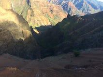 Waimea kanjon på den Kauai ön, Hawaii Arkivfoton