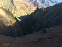 Waimea kanjon på den Kauai ön, Hawaii Arkivbild