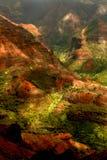 waimea lush kauai острова Гавайских островов каньона Стоковое Фото