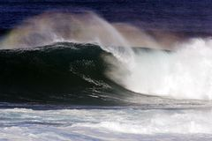 Waimea Point Wave 1 Stock Image