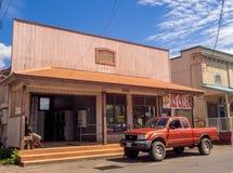 Waimea stad, Kauai Arkivfoto