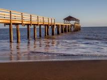 Waimea Town pier at sunset Stock Images