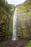 Waimoku Falls, Maui, Hawaii. Low angle view of the Waimoku Falls in Maui, Hawaii stock image