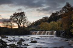 Wain Wath Evening. Wain Wath falls as the sun sets Royalty Free Stock Photos