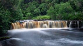 Wain Wath Waterfalls in Swaledale, north yorkshire stock photos