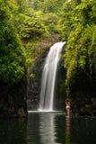 Wainibauwaterval aan het eind van de Kustgang van Lavena op Taveuni Stock Afbeelding