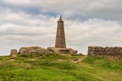 Wainman的石峰,在整流罩附近,北约克郡,英国,英国 免版税库存图片