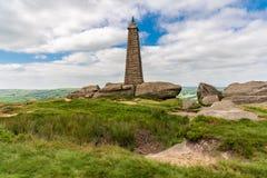 Wainman的石峰,在整流罩附近,北约克郡,英国,英国 免版税图库摄影