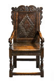 Wainscot Chair, second half 17th century carved oak Stock Image