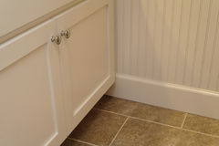 Wainscoting And Cabinets stock image