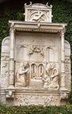 Wainscots - tiling показывая сцену рождества в саде дворца Monte тропическом, Фуншале, Мадейра, Стоковые Изображения RF