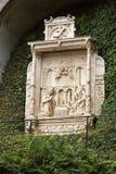 Wainscots - tiling показывая сцену рождества в саде дворца Monte тропическом, Фуншале Стоковые Изображения