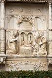 Wainscots - tiling показывая сцену рождества в саде дворца Monte тропическом, Фуншале, Мадейра, Стоковые Фотографии RF