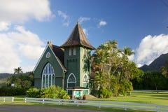 Waioli Huiia kyrka Hanalei Arkivfoto