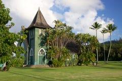 Waioli Huiia kyrka Hanalei Royaltyfri Bild
