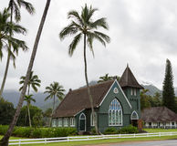 Waioli Huiia Mission Church in Hanalei Kauai Stock Photography