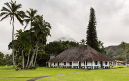 Waioli Huiia Mission Hall in Hanalei Kauai Stock Photos