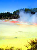 Waiotapu Thermal Reserve, New Zealand. Geothermal activity in the Artist's Palette, Waiotapu Thermal Reserve, New Zealand Stock Photography