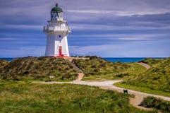 Waipapa-Punkt-Leuchtturm Neuseeland stockbilder