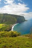 Waipio谷在夏威夷大岛的监视标志 免版税库存图片