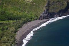 Waipio谷海滩 图库摄影