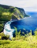 waipio долины Гавайских островов Стоковое фото RF