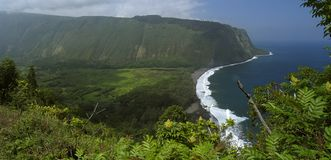 Waipio Bay. Big Island, Hawaii, USA royalty free stock photo