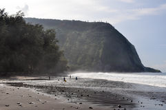 Waipio dolina, nadmorski z plażowym widokiem Obrazy Royalty Free